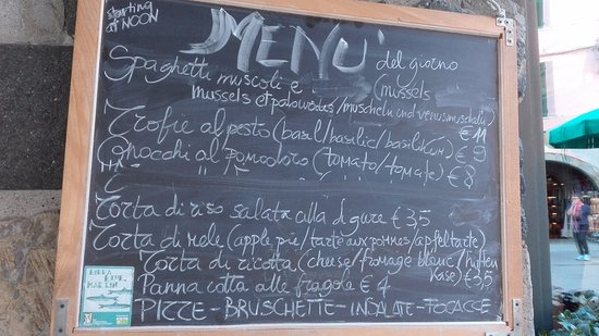 Blue Marlin Cafe : menu