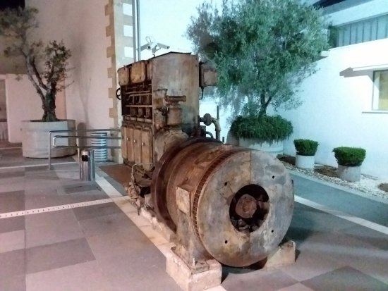 The old electric generator thast used to power the town or at least