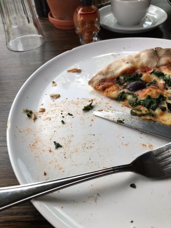 The Millhouse Kitchen: My lunch served to me on a plate with broken edges