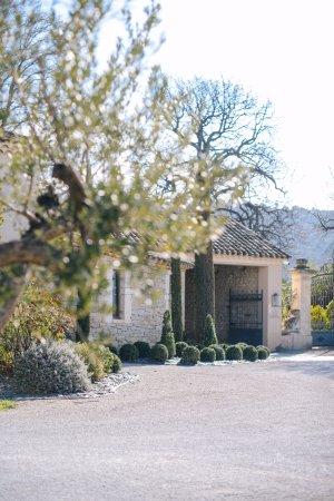 Vacqueyras, France : Entrée principale du Domaine