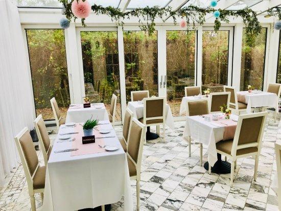 Hotel Kosciuszko: Sala da pranzo in autunno