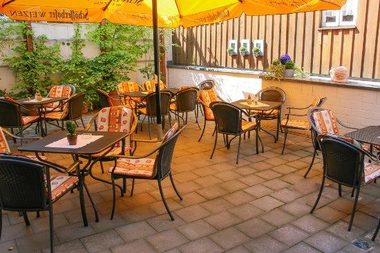 Rinteln, Tyskland: Biergarten