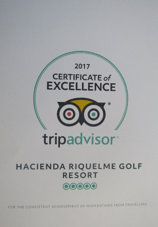 Sucina, Spain: Trip Advisor Certificate of Excellence 2017