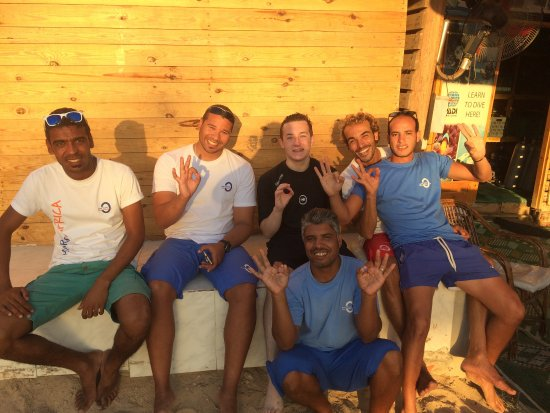 Diving Ocean Makadi Bay: My son with the dive team after passing his open water
