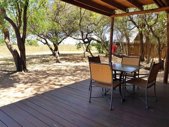 Amorello Safari Park: Chalet Patio with Seating