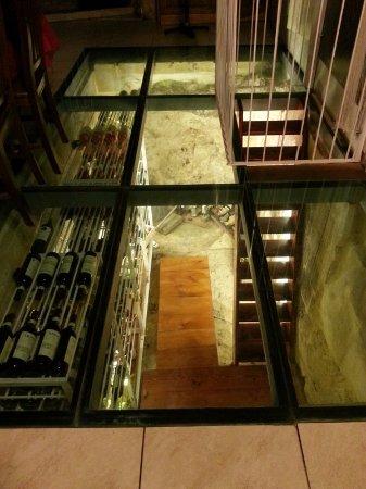 Olympic : Wine cellar at restaurant!