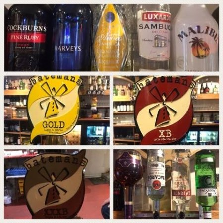 Alford, UK: a selection of some of our beverages