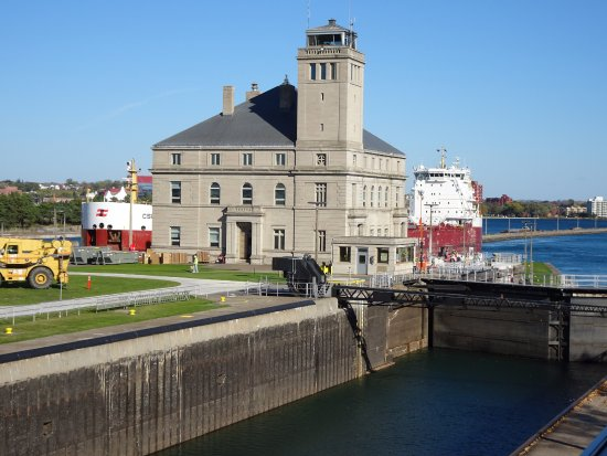 Sault Ste. Marie, MI: The main building on the locks.