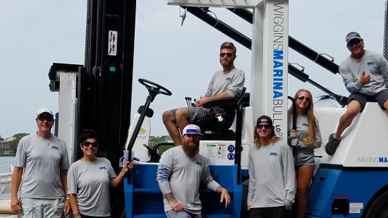 Holiday, FL: Our Anclote Village Marina Team, ready to provide you with excellent customer service.