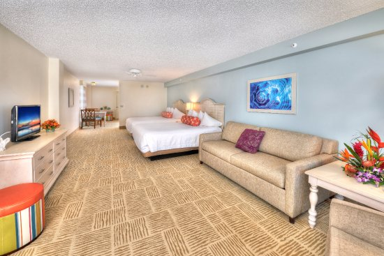 Ocean Front Deluxe Suite, Kitchen, 2 Queen Beds, Sleeper Sofa