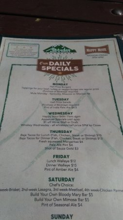 Altitudes Bar & Grill: specials of the day