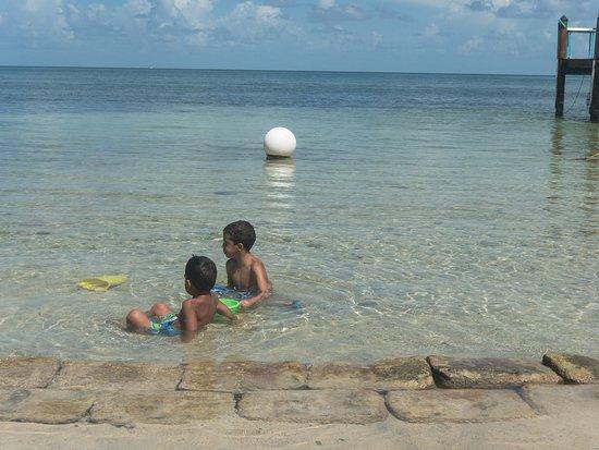 Long Key (Cayo Víbora), FL: my grandkids playing at the beach