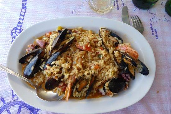 Gialos, Grecia: le risoto de fruit de mer