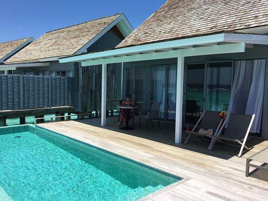 Thundi Water Villa Pool Deck Picture Of Kuramathi Island Resort