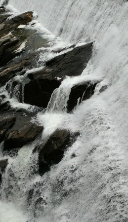 Quechee, VT: Water over the dam.