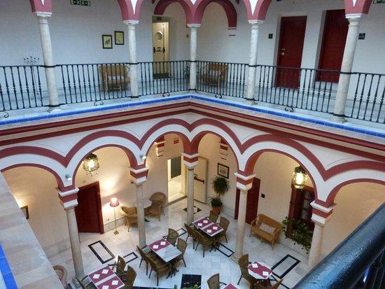 Las Casas De Los Mercaderes: Breakfast room, taken from the first floor internal balcony