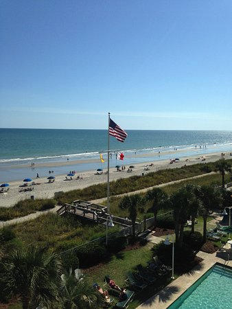 Hampton Inn & Suites Myrtle Beach/Oceanfront: View from the balcony.