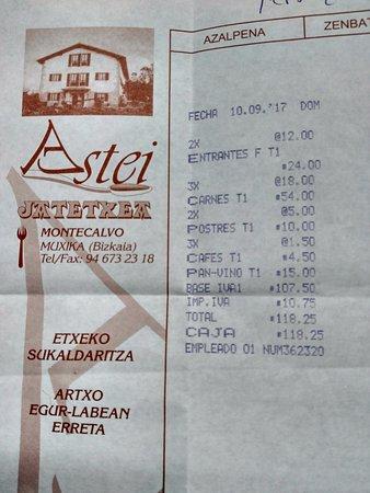 Muxika, สเปน: La cuenta para tres