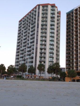 The Strand a Boutique Resort: View of hotel from the beach