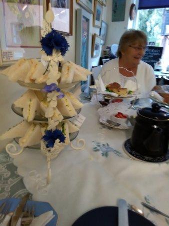 Loddon, UK: sandwiches scones and tea