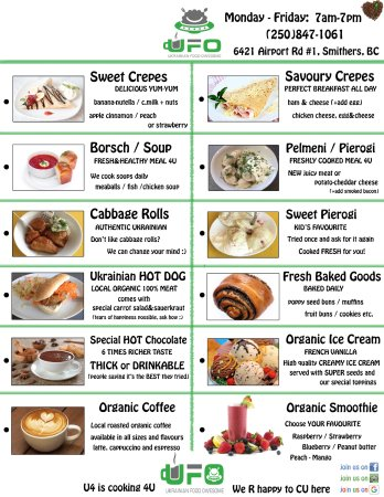 Smithers, Canada: Our menu items. We have this and much more :)