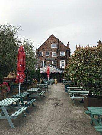 Exhibition Hotel: Beer Garden - in the back