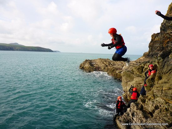 Celtic Quest Coasteering: One of about 12 jumps we had a chance to do