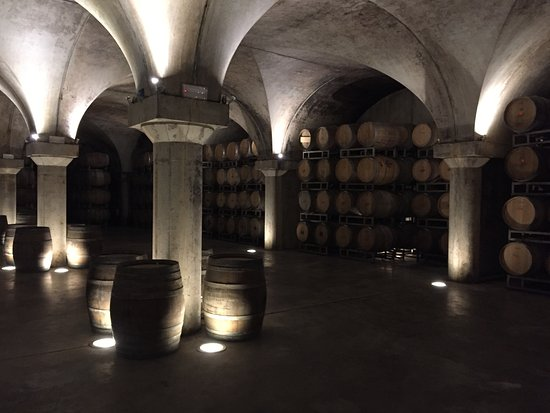 Newly constructed area in wine cellar for weddings and events