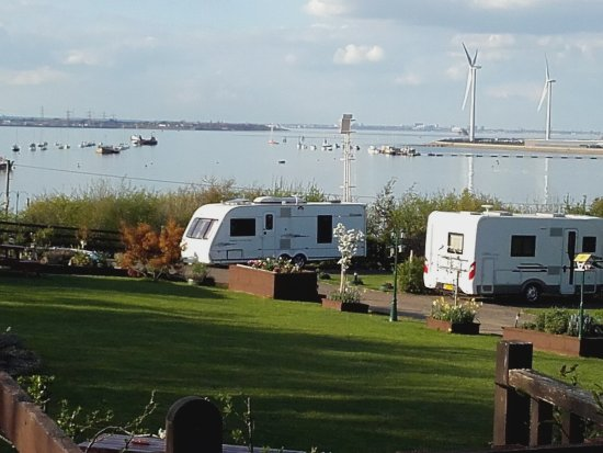 Isle of Sheppey, UK: LeoBay Campsite: View across Queenbrough Harbour