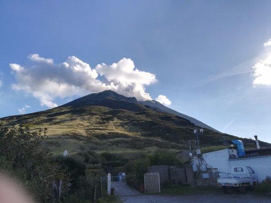 Osservatorio: la vista del vulcano
