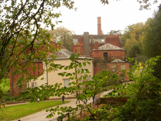 Styal, UK: view of the mill area from upstream