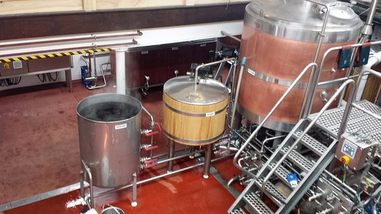 St Austell, UK: some of the brew tanks/vats