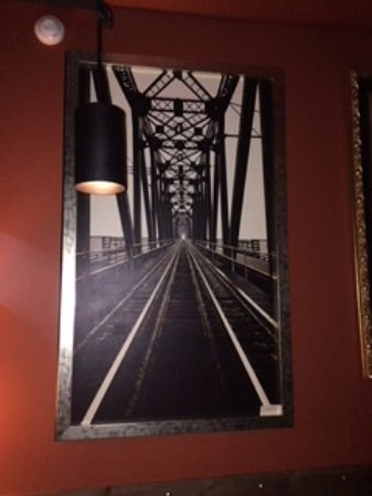 Prince George, Kanada: photo print of local historic  bridge