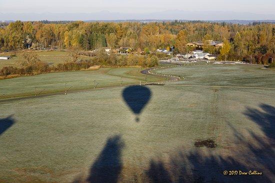 Burien, Ουάσιγκτον: Balloon shadow on a field