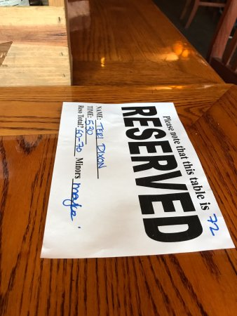 Reserved for our birthday party, Cat & Fiddle Pub 1979 Brown St, Port Coquitlam, British Columbi