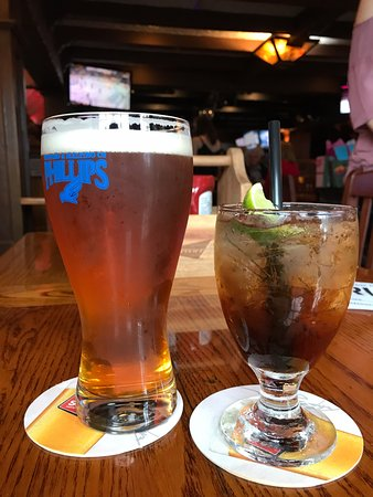 Draught and long island iced tea, Cat & Fiddle Pub 1979 Brown St, Port Coquitlam, British Columb
