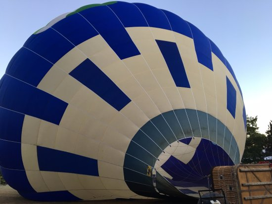 Above Reality Inc. Hot Air Balloon Rides: Inflating the balloon