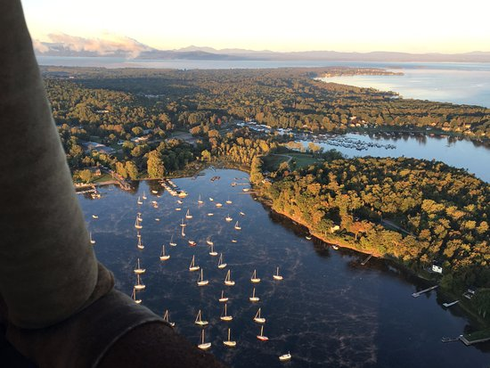 Above Reality Inc. Hot Air Balloon Rides: Floating over Lake Champlain