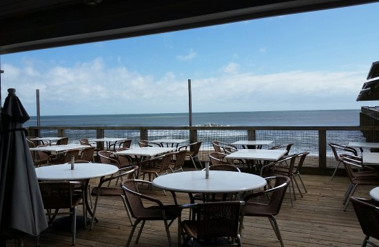 Oceanic Oceanfront Dining: View from the inside bar