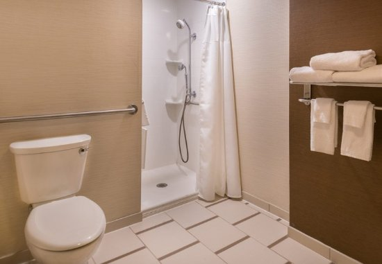 Olean, NY: Accessible Guest Bathroom - Roll-in Shower
