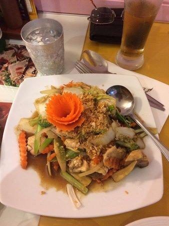 Bundall, Australië: Stir Fry Chicken with garlic
