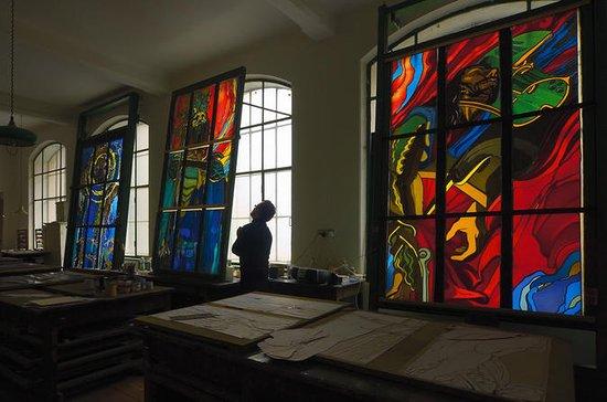 Atelier de vitraux et billet d'entrée...