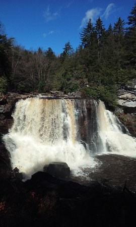 Davis, Virginia Occidental: The Falls after a heavy rain.