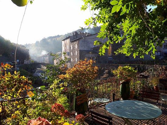 Saint Andre de Valborgne, France: terrasse