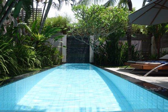 Bali Island Villas & Spa: Pool aus Wohnzimmer fotografiert