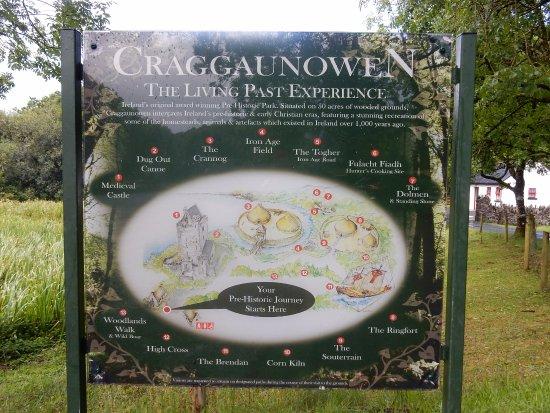 Sixmilebridge, İrlanda: Craggaunowen site map