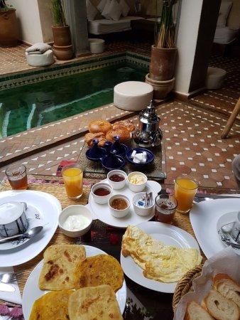 Riad Shambala: Le petit déjeuner de rêve du matin