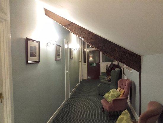 The Bear Hotel: Quaint old charm of the upper floor corridors