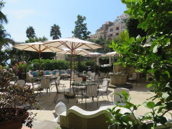 The terrace at Hotel Palazzo Murat