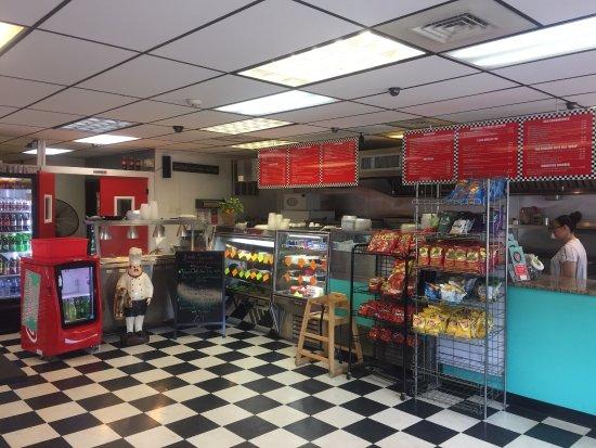 Order Counter & Kitchen Area - Classic 50's Deli, Monroe CT